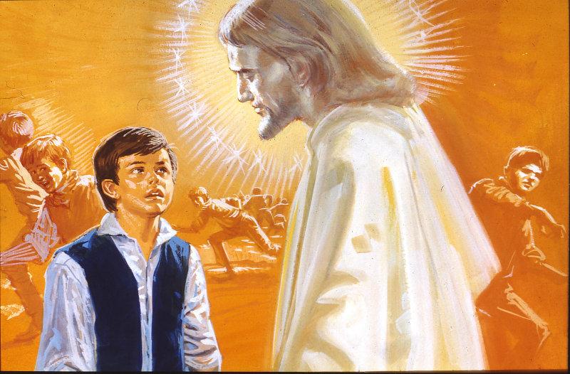Giovannino e l'uomo venerando