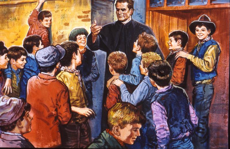 Don Bosco in mezzo ai Giovani