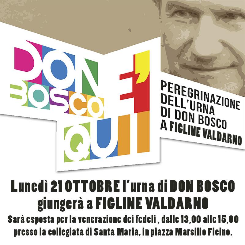 Manifesto L'Urna di don Bosco a Figline Valdarno