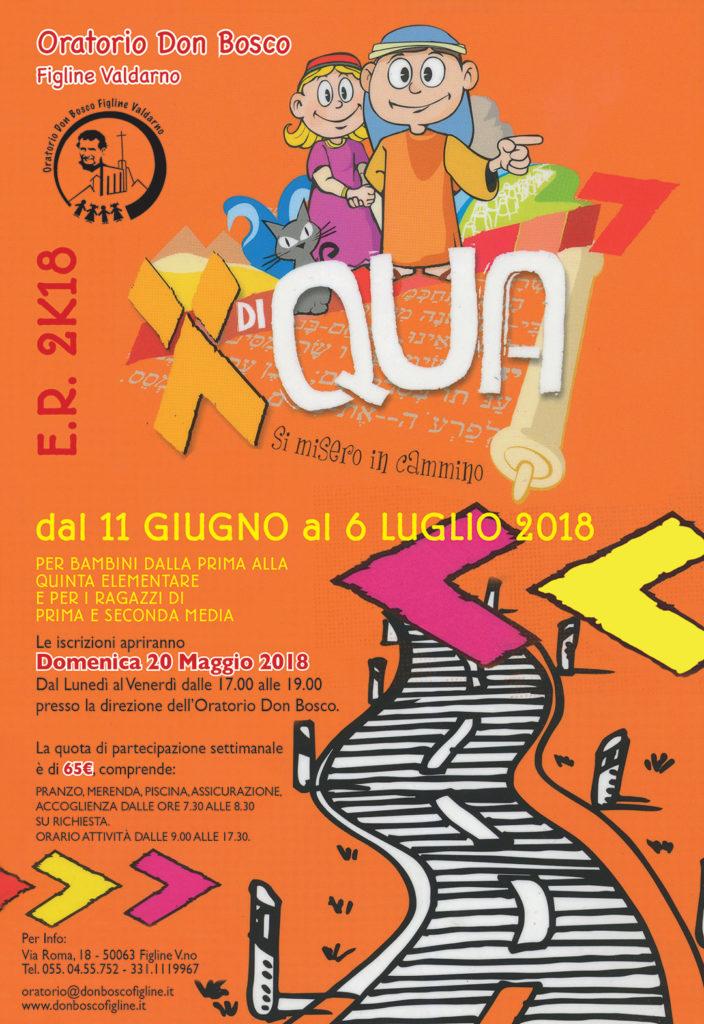 Locandina Estate Ragazzi 2018 - Figline Valdarno