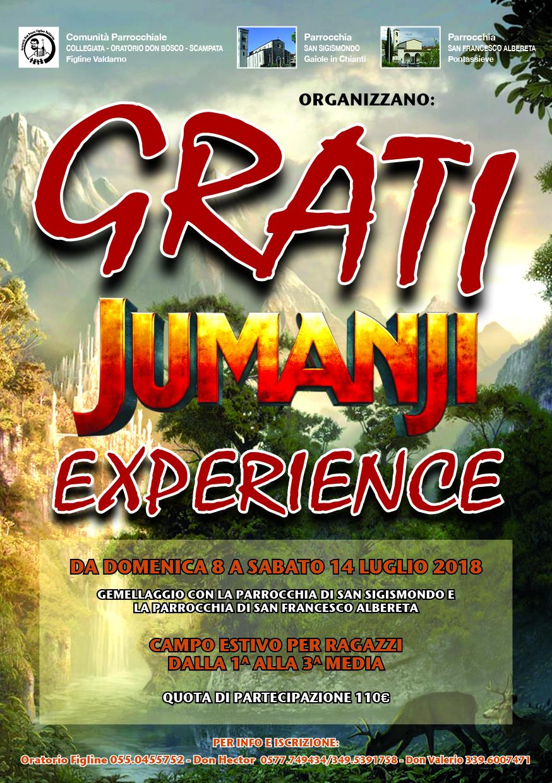 Grati: Jumanji Experience - Campo Estivo per Ragazzi dalla 1ª alla 3ª Media