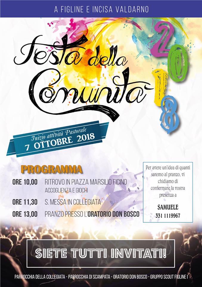 Festa della Comunità 2018 all'Oratorio Don Bosco di Figline Valdarno